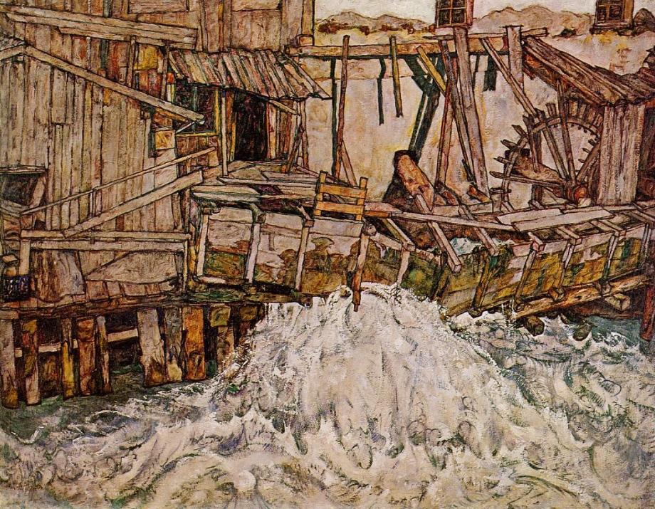 Le dispositif d'enquête à l'épreuve du terrain (Le Moulin à eau, Egon Schiele)