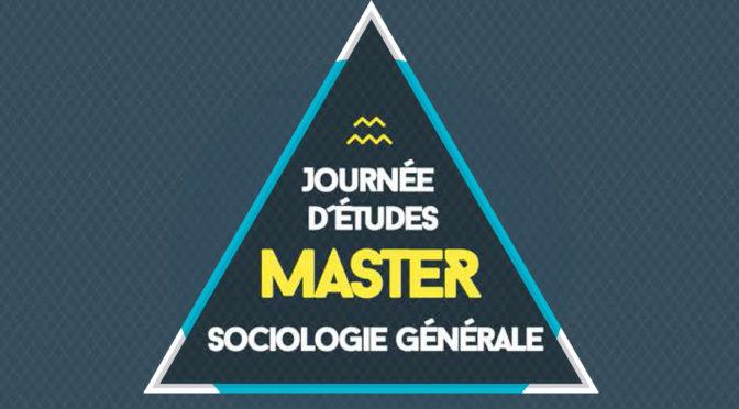 [Annonce] Journée d'études de la mention Sociologie Générale
